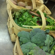 Sample Delivery Broccoli Swiss Chard Onions Potatoes