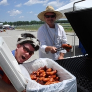 Grilling Sausage at Strawberry Hill Horse Races